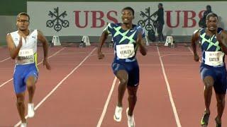 Andre de Grasse Runs Down Fred Kerley & Justin Gatlin In 100m