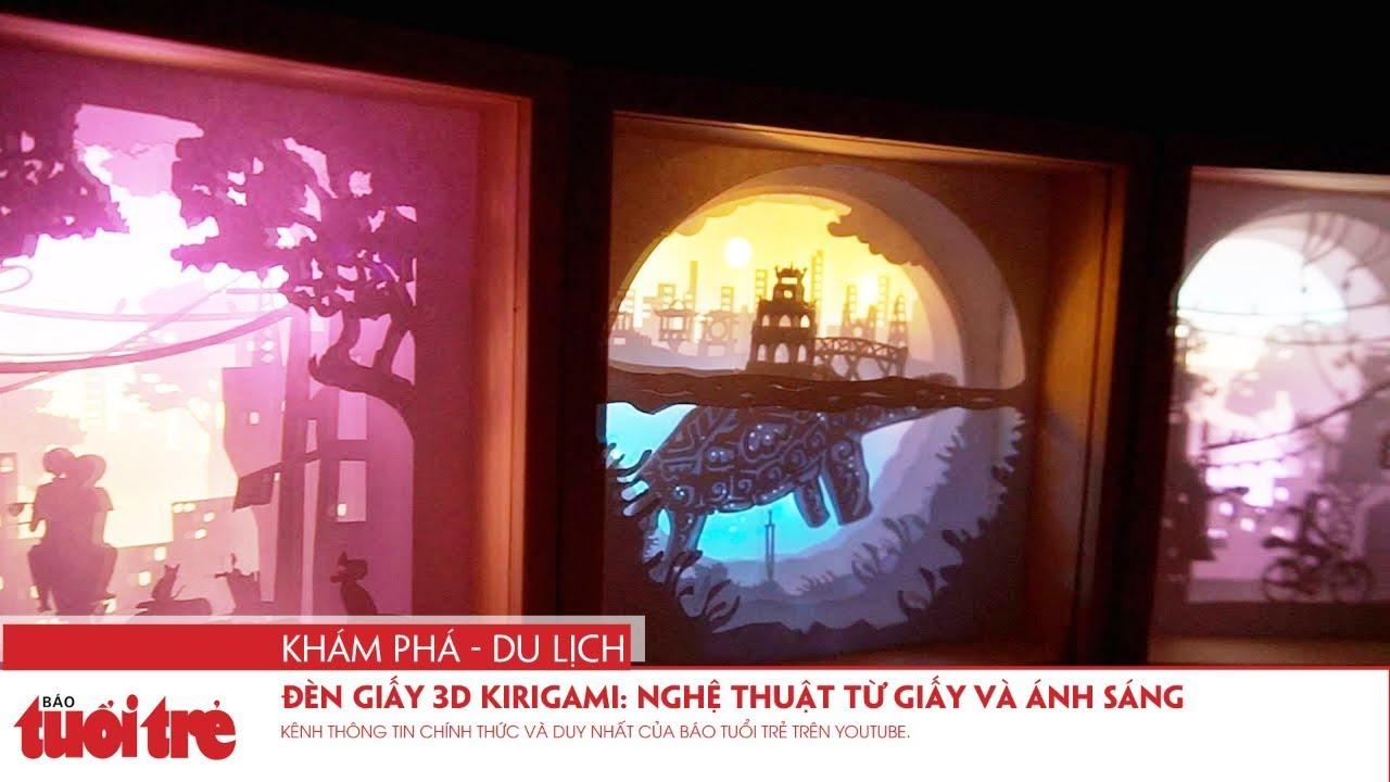 Đèn giấy 3D Kirigami: Nghệ thuật từ giấy và ánh sáng