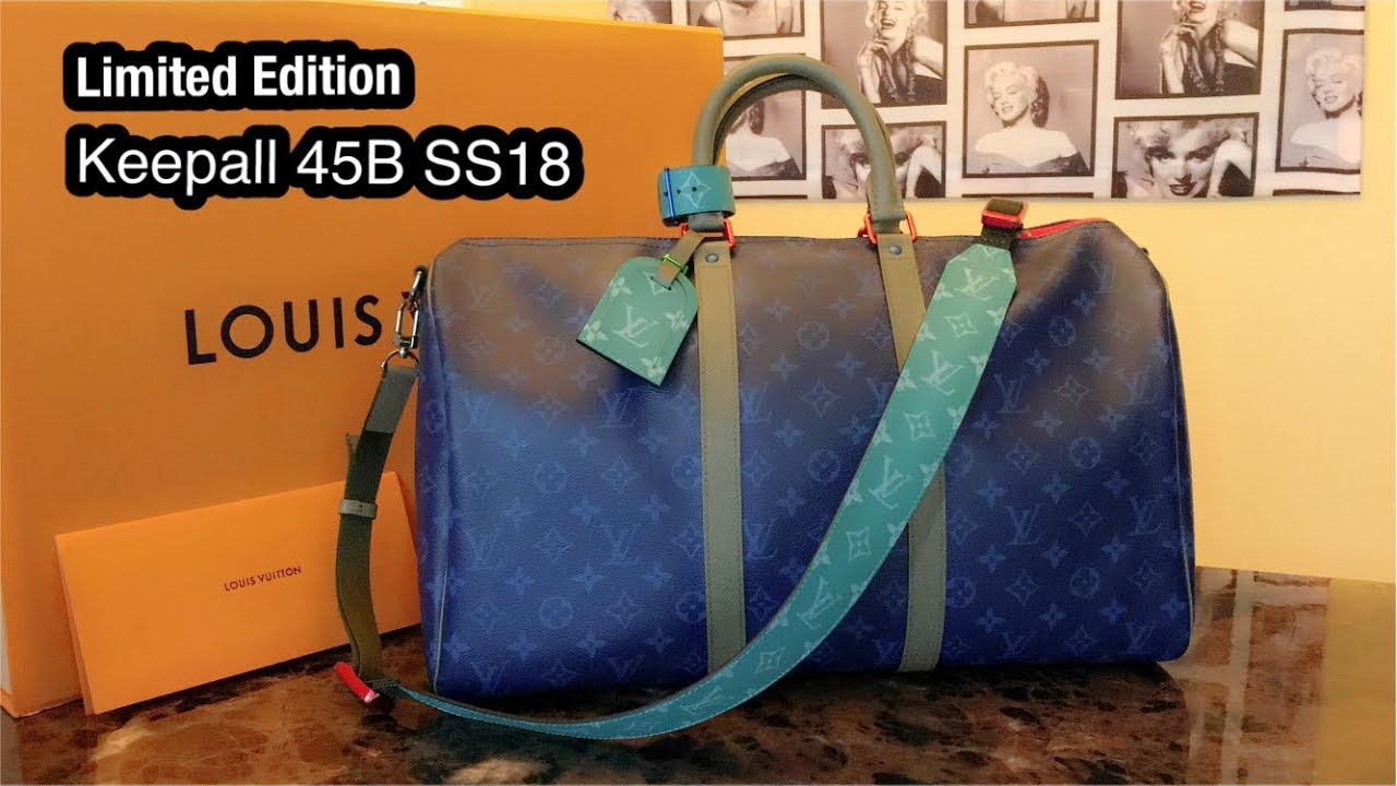 32d70d4dd202 Limited Edition Louis Vuitton Keepall 45B Mens SS18 Collection - YouTube