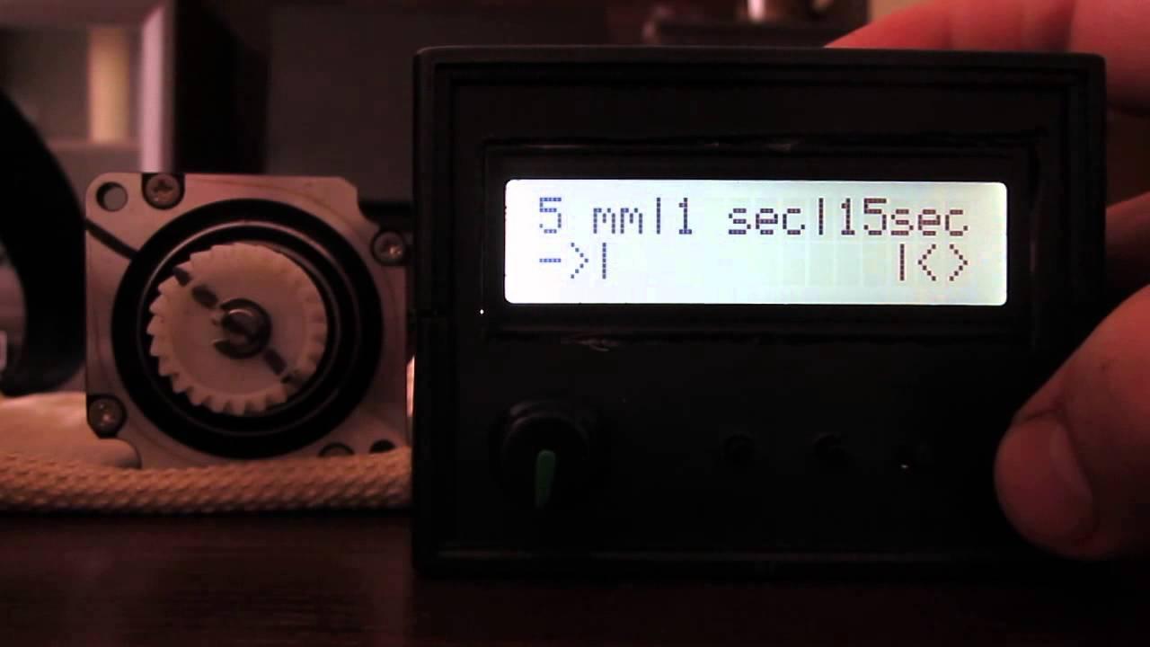 Arduino time lapse slider youtube