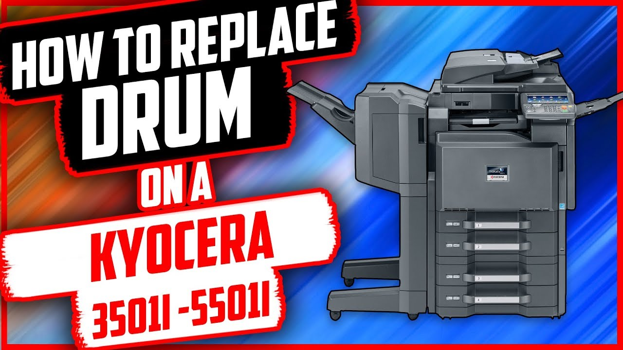 #Kyocera How to replace drum and developing unit on Kyocera 3501i/5501i