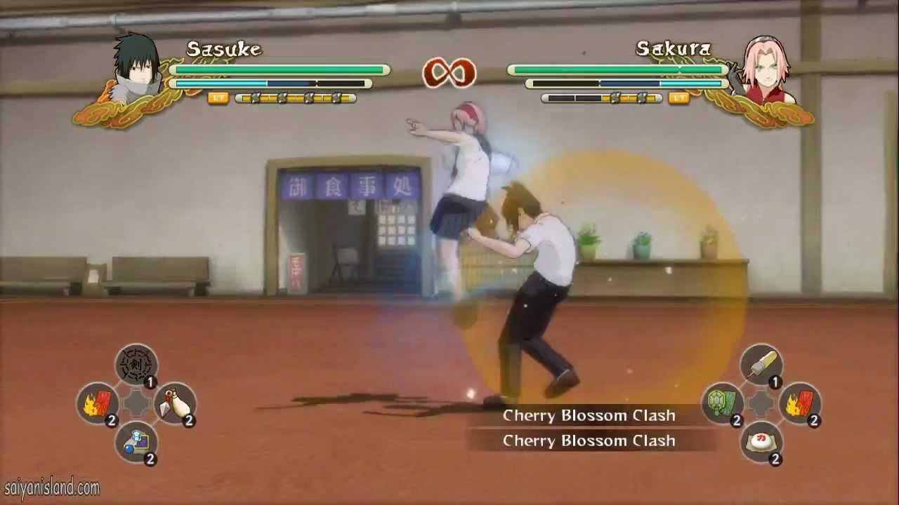 [NEW DLC] Student Sasuke (EMS) vs School Girl Sakura - Naruto Storm 3