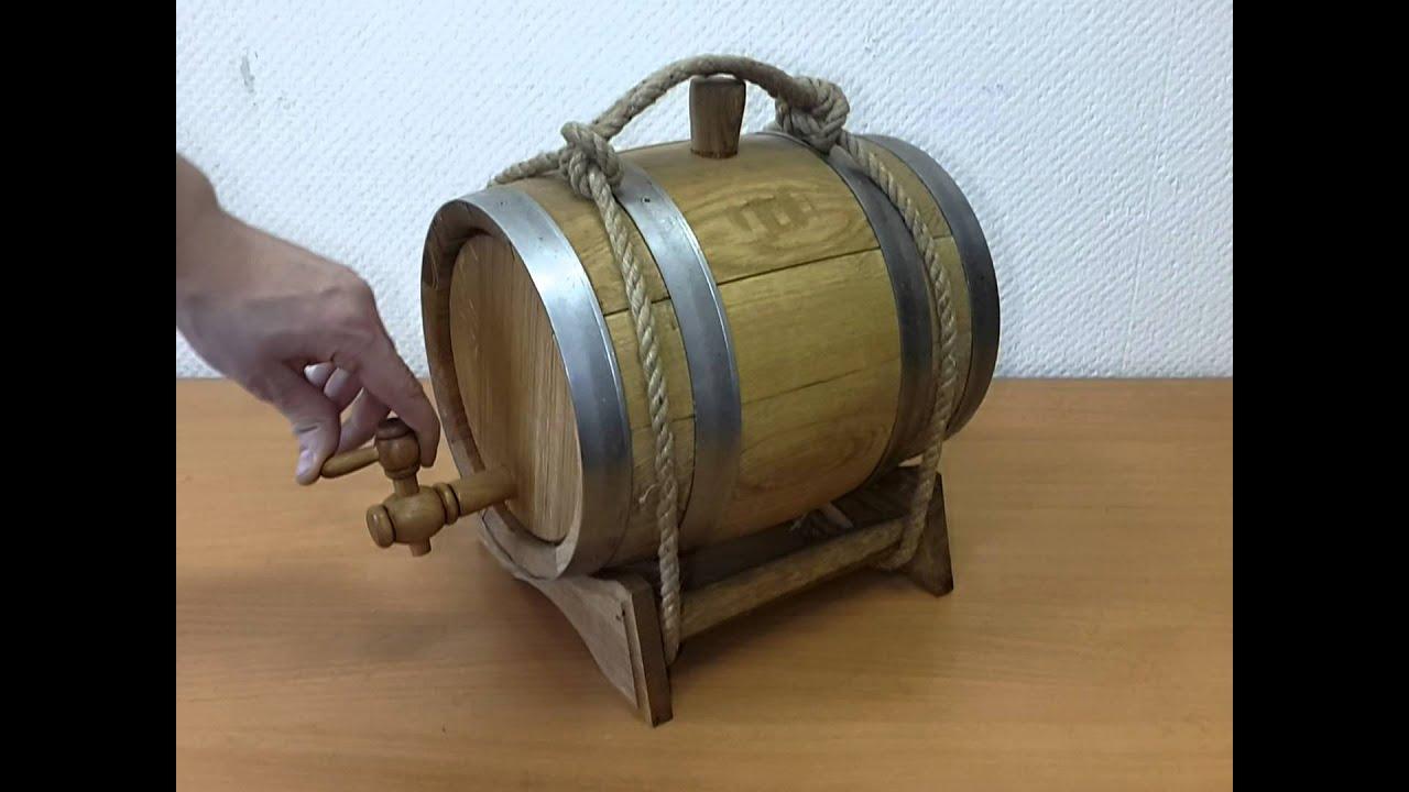 Как изготовить бочонок из дуба. How to make oak barrel - YouTube