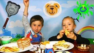 ბლინების ჩელენჯი - ალექსანდრე და ანასტასია ეჯიბრებიან დათუნია ბლინებს ჭამაში | Pancake Challange