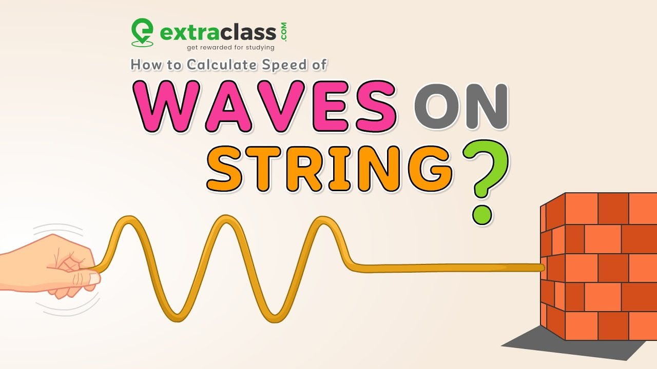 How to calculate the speed of waves on a string? | Physics | Extraclass.com