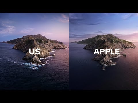 We Recreated The Latest Apple Wallpaper Macos Catalina Youtube