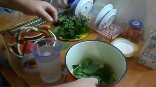 Соление Арбуза с листьями дуба  смородины и вишни! Засол арбузов! Вкусный рецепт хрустящих арбузов!