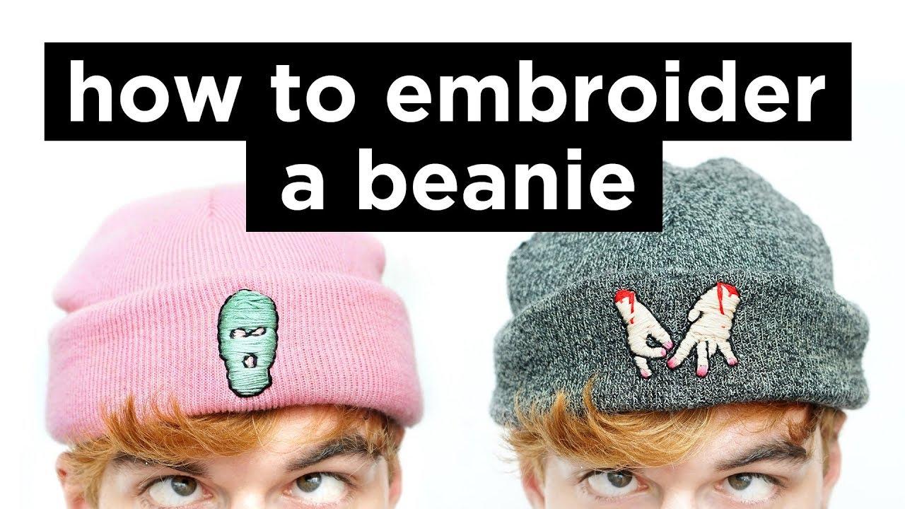 54729aca6271c2 How To Embroider A Beanie | DIY Beanie Embrodery Tutorial | Dapper Alien