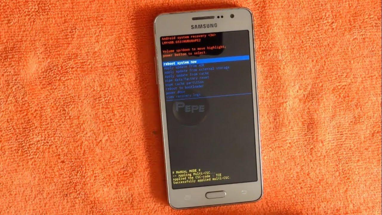 Eliminar Patr U00d3n De Bloqueo    Virus A Un Samsung Galaxy Grand Prime   Sm-g531h