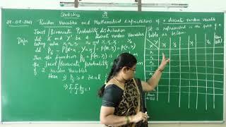 I PUC/ STATISTICS/ RANDOM VARIABLES AND MATHEMATICAL EXPECTATIONS-07