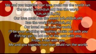Jennifer Lopez - Run the World, lyrics on screen