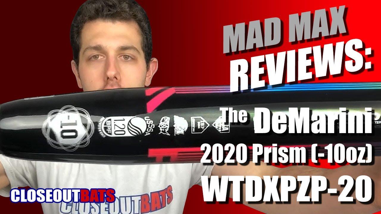 Closeoutbats com DeMarini Prism Fastpitch Bat WTDXPZP-20 -10oz (2020)