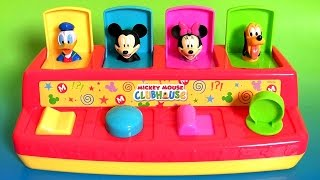 Mickey Mouse Clubhouse Pop Up Pals Play-Doh Surprise Eggs Disney Baby Toy Donald Minnie Pluto