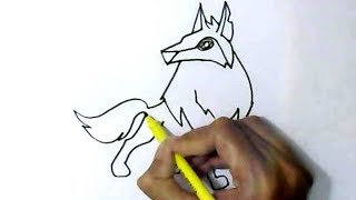 How to draw animal jam ARCTIC WOLF in  easy steps for children, kids, beginners