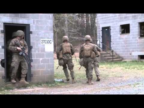 New Marine Officers go through Urban Combat Training at The Basic School (TBS)