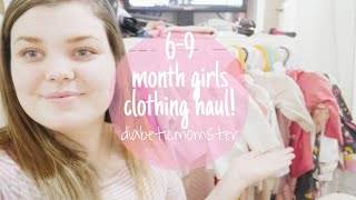 BABY GIRL SPRING CLOTHING HAUL! Diabeticmomster