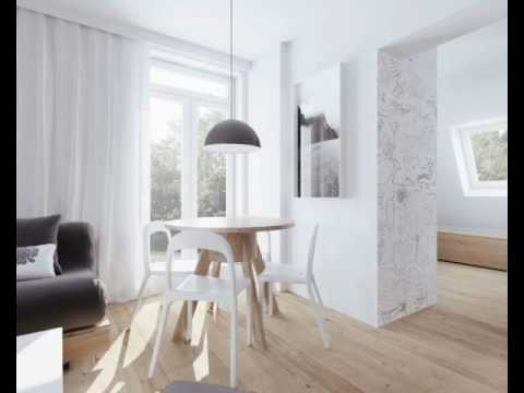 Beautiful attic apartment with clever design features includes floor plans