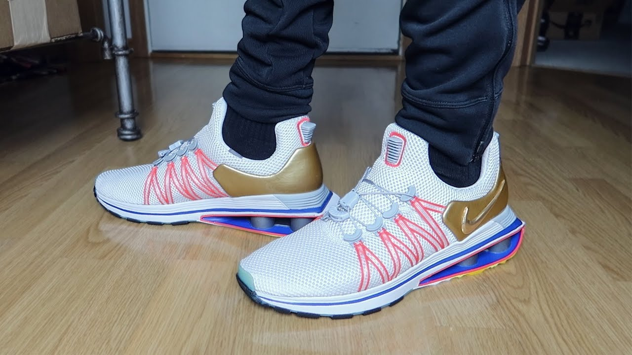 new concept c42c6 e022b NIKE SHOX GRAVITY METALLIC GOLD!!!!! (UNBOXING & REVIEW)