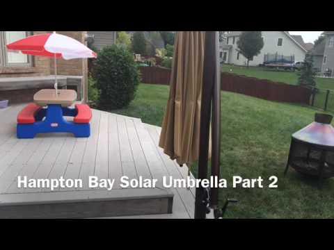 Hampton Bay Solar Umbrella Broke After Slight Breeze YouTube