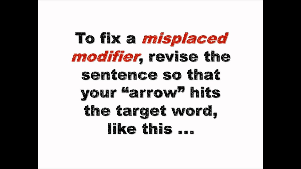 Grammar Bytes Presents Finding and Fixing Misplaced and – Dangling Modifier Worksheet