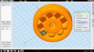 Simplify3D (Software For 3D Printing) Dual Extruder Demo With Supports