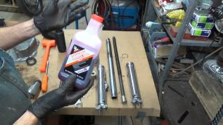 honda cb450 restoration project part 3 fork rebuild