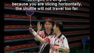 Episode 08 part 1 - Horizontal Slice Drop Shot: Badminton Training by Zhao  and Xiao