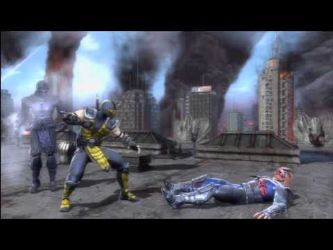 INJUSTICE & MK9: SCORPION TRANSITION KOMBAT COMBO VIDEO BY TONY-T