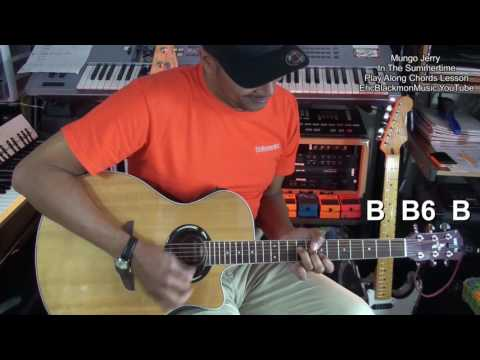 IN THE SUMMERTIME Mungo Jerry Guitar Play Along Guitar Lesson EricBlackmonGuitar