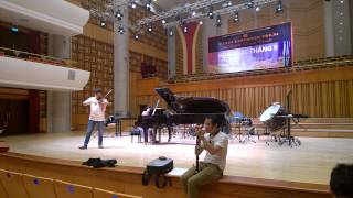 Rehearsal for May concert - Milonga Sin Palabras - violinist Bui Cong Duy