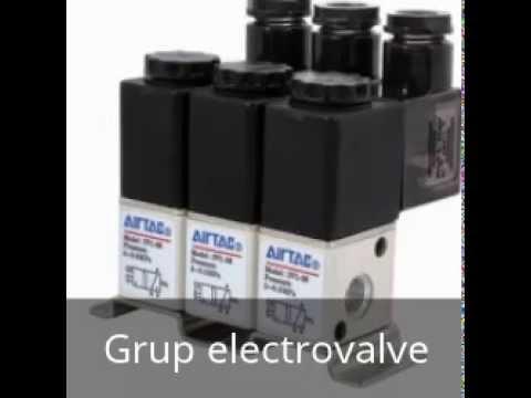 Valve pneumatice actionate electric si manual