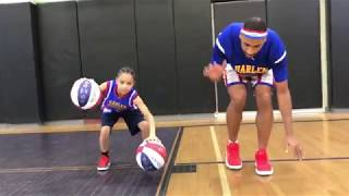 9-Year Old Plays with Harlem Globetrotters