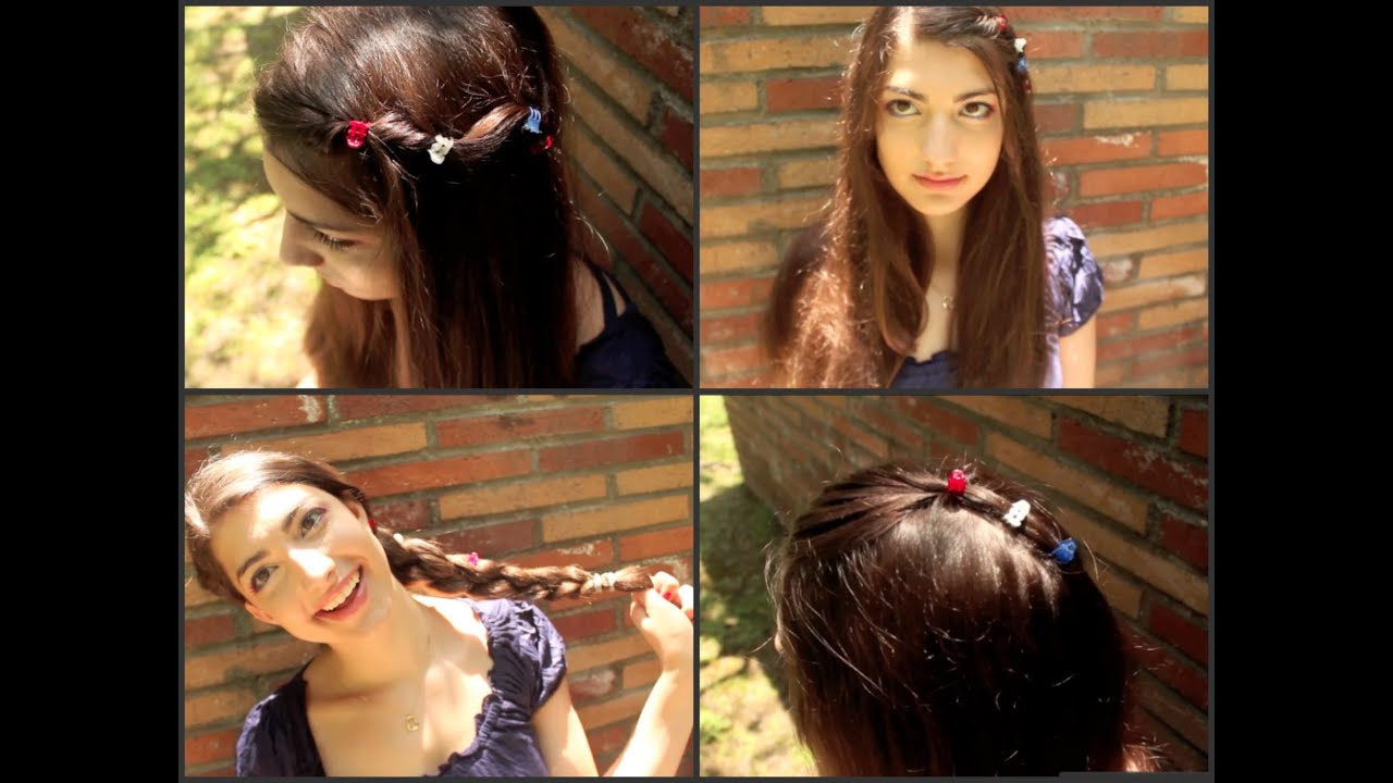 Fourth Of July Hairstyles 4 Quick Easy Heatless Hairstyles Inspired By 4th Of July Youtube