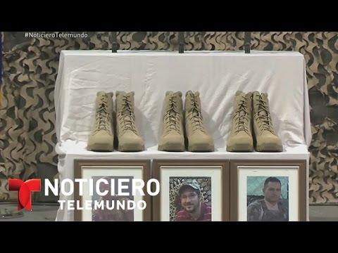 Llegan a EEUU cuerpos de 6 soldados muertos en Afganistán | Noticiero | Noticias Telemundo