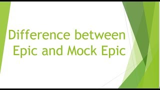 mock epic topics Template:unreferenced mock-heroic, mock-epic or heroi-comic works are typically satires or parodies that mock common classical stereotypes of heroes and heroic literature typically, mock-heroic works to insert the heroic work by either putting a fool in the role of the hero or by exaggerating the heroic.