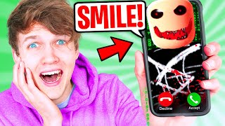 LANKYBOX WATCHES SCARIEST ROBLOX MOVIE EVER AT 3AM!? (I TOLD YOU TO SMILE! *ROBLOX HORROR STORY*)