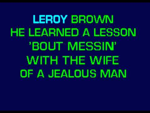 Jim Croce - Bad Bad Leroy Brown karaoke