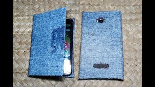 How to Make Mobile Phone Flip Cover with Jeans I PS Homemade Projects