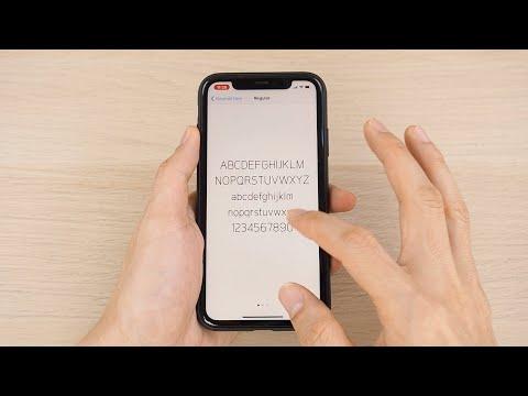 วิธีลง font ใน iPhone/ iPad สำหรับ iOS13 ขึ้นไป