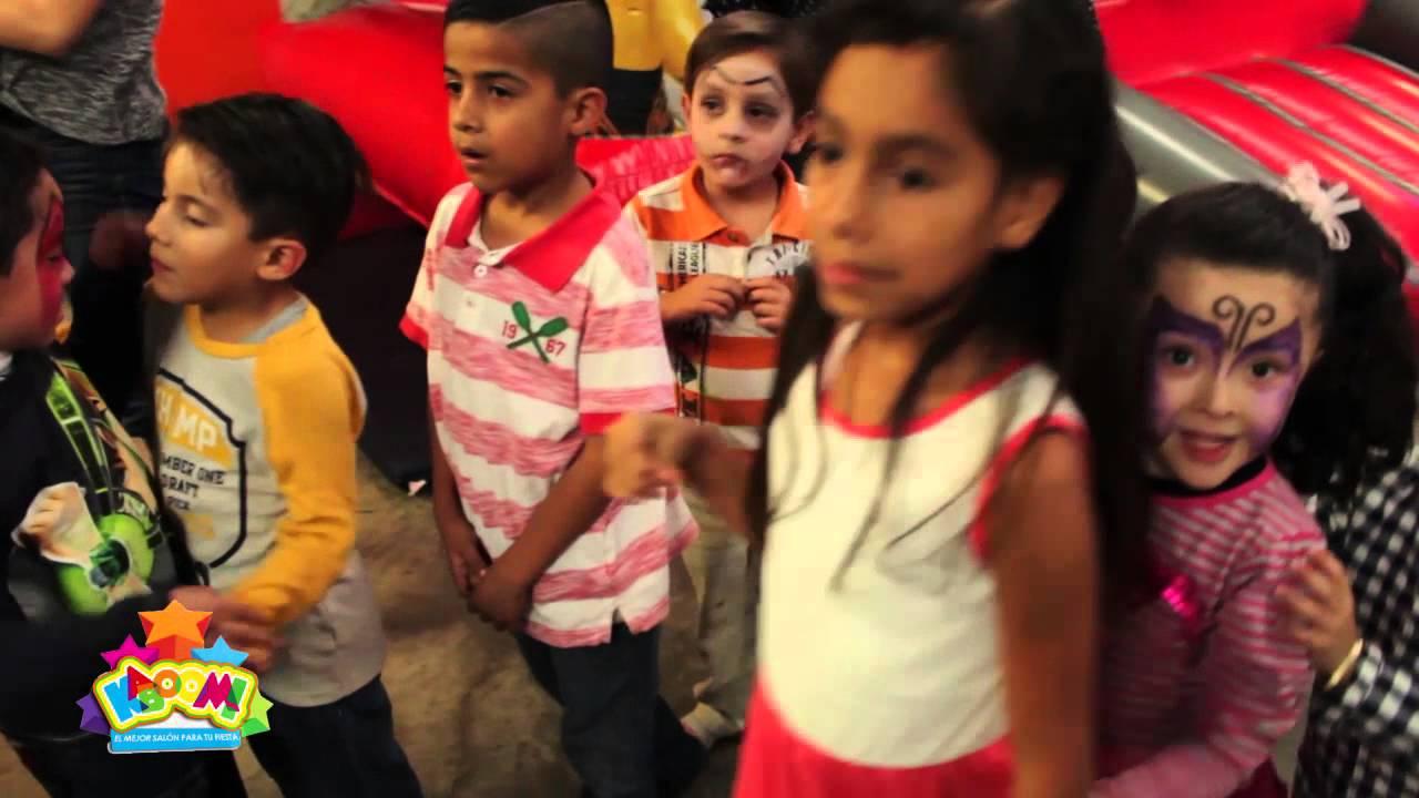 Fiesta raymundo sal n de fiestas infantiles kaboom youtube for K boom salon de fiestas