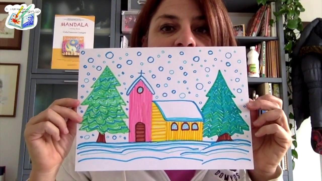 10 disegni paesaggi tecnica puntinismo da colorare for Disegno paesaggio invernale