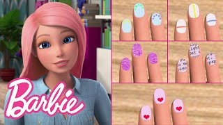 DIY Nail Art Designs Tutorial (5 Easy Ideas!) | Barbie Vlogs