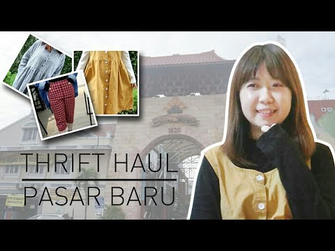 THRIFT HAUL #1 | FIRST TIME THRIFT SHOPPING TO PASAR BARU | INDONESIA