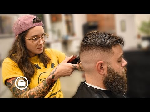 High & Tight Skin Fade With Beard Trim By Andy | The Philadelphia Barber Co.