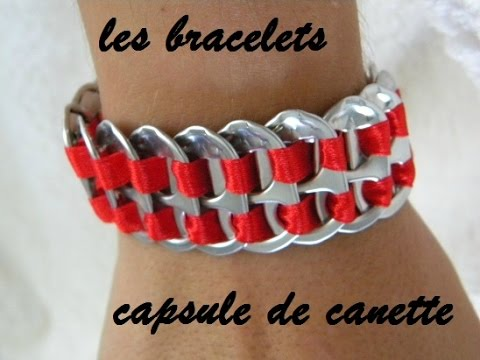 Extrêmement bracelet en capsule de canette - YouTube IU81