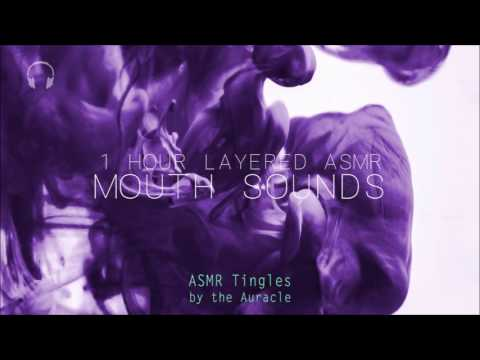 1 hour Multi-layered [ASMR] ★ Ear Munching Mouth sounds ★ [binaural] [wet mouth sounds]