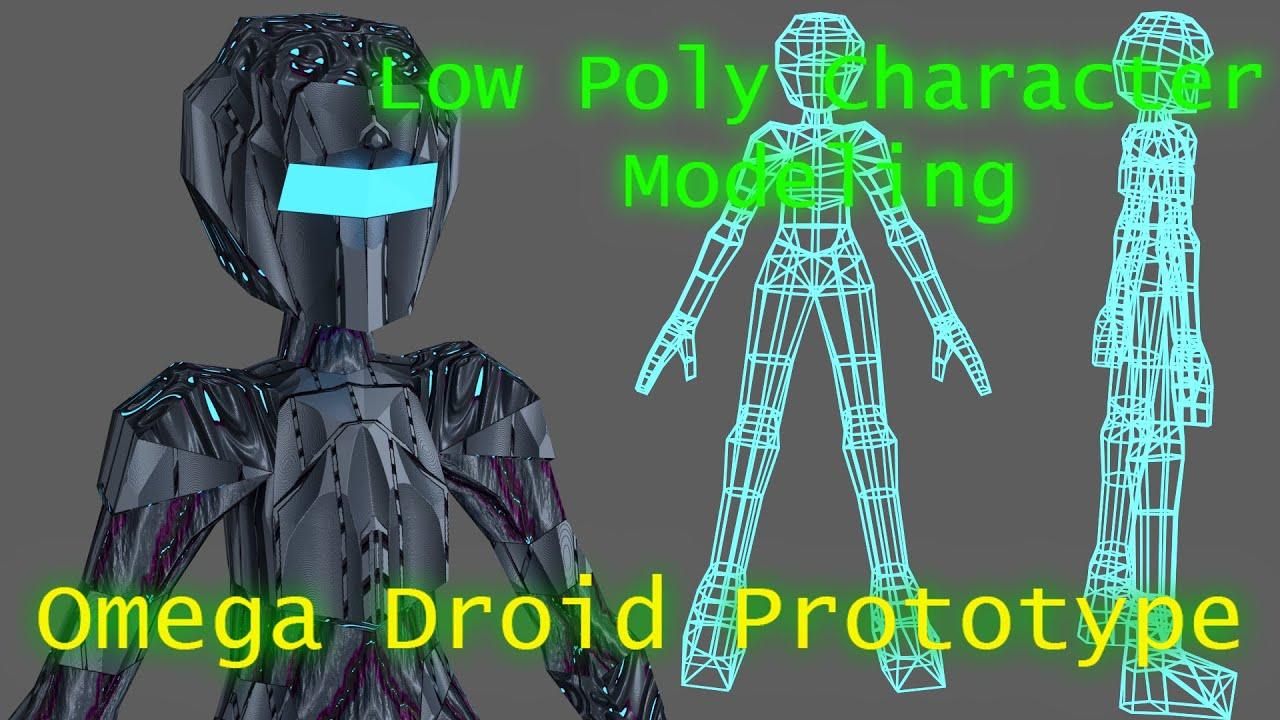 Blender Character Modeling Tutorial Beginner : Blender tutorial low poly character modeling omega
