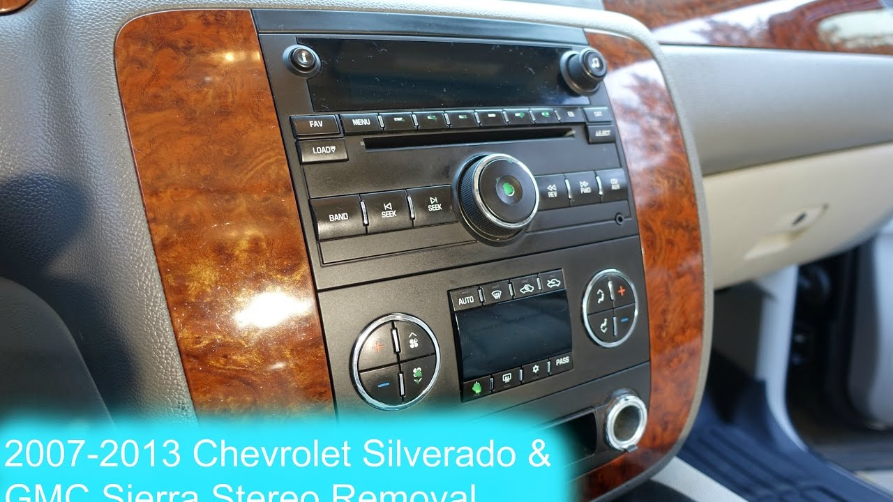 2007 2017 Chevrolet Silverado And Gmc Sierra Radio Removal