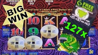 5 Dragons Deluxe Slot Machine BONUS and BIG WIN | + Slot Machine BONUSES