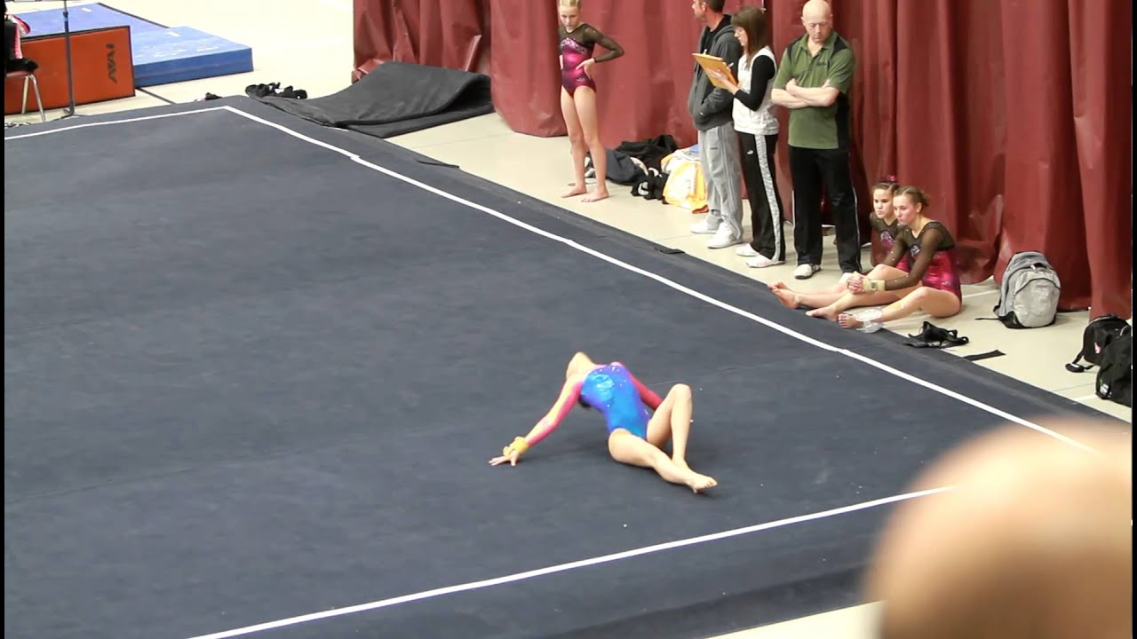 Paris lafleur39s gymnastics level 9 floor routine doovi for Indian gymnastics floor music
